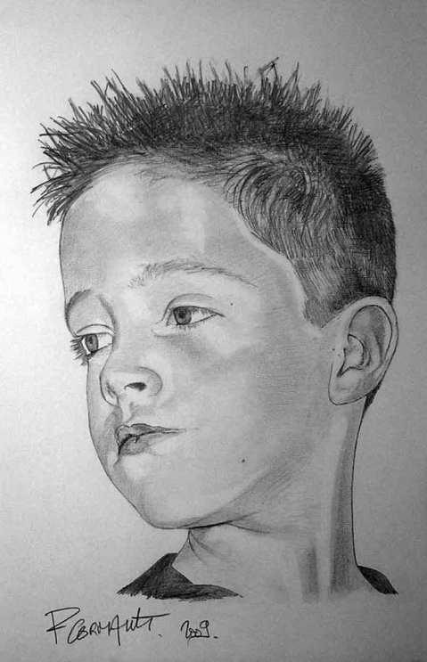 image de portrait au crayon