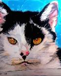 image de portrait d'animal de compagnie à la sépiae acrylique