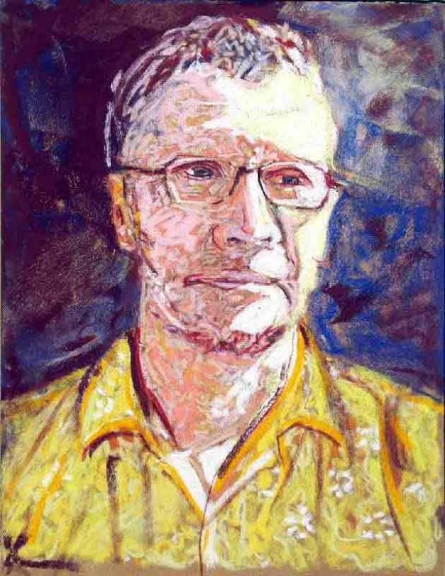 image d'autoportrait aux pastels secs