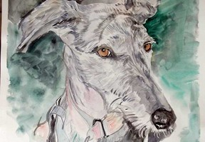 image d'animal de compagnie à l'aquarelle