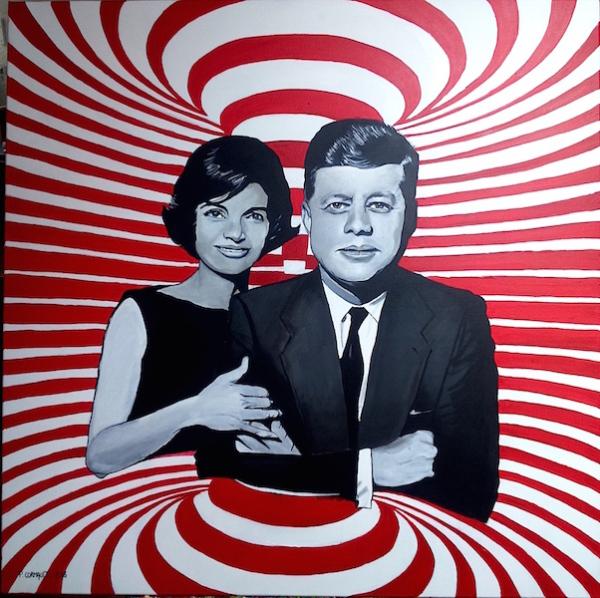 portrait de célébrités à la peinture acrylique