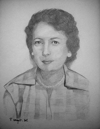 image de portrait de couple au crayon graphite