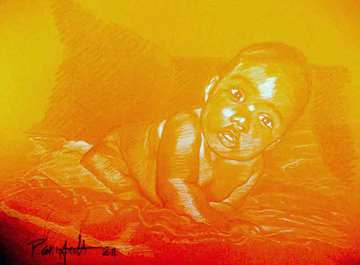 image de portrait à la sanguine