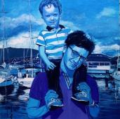 image de portrait à a peinture acrylique