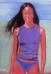 image de portrait individuel aux pastels secs