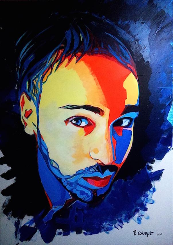 image de portrait à l'acrylique