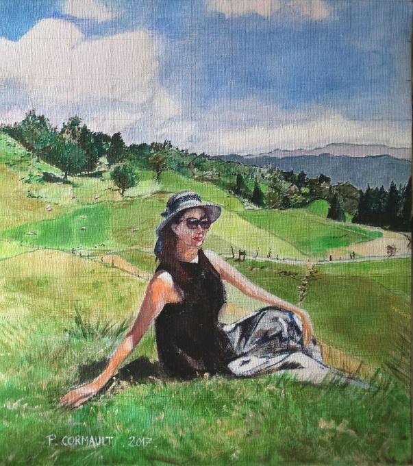 paysage peinture acrylique