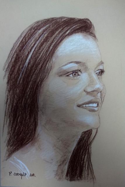 image de portrait à la sépia