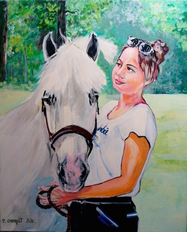 image de portrait animalier à la peinture acrylique