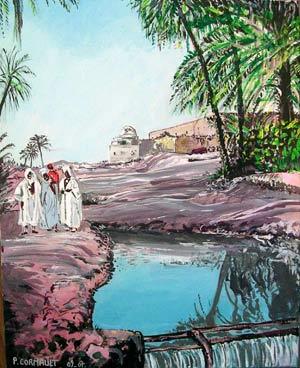 image de paysage à la peinture acrylique