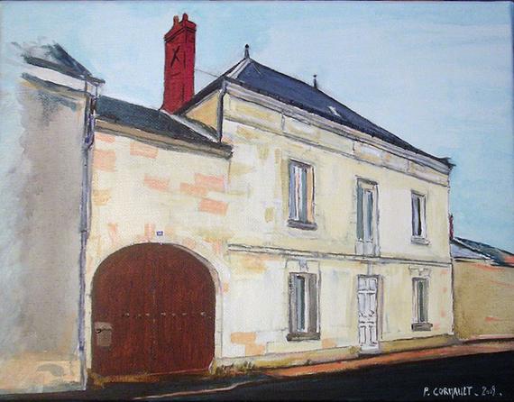 image de paysage à la peinture acryliquee